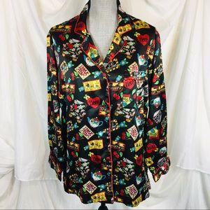 Y2K Mary Engelbreit Size Medium Pajama Top Blouse